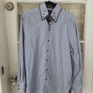 COOGI Luxe Men Button Down Shirt Sz L